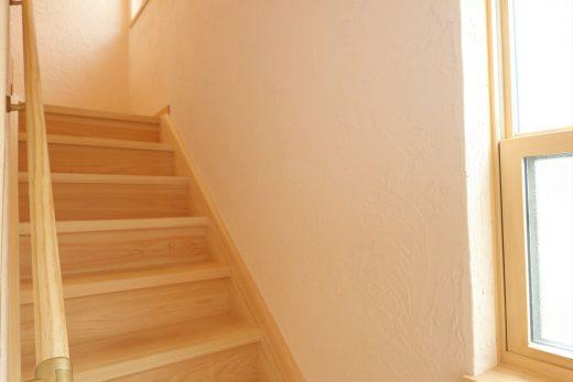 会談の壁もすべて漆喰なので家中の空気がサラサラです。