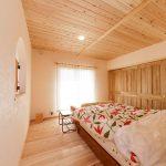 寝室には45℃低温乾燥の愛工房の杉を使用しているので、良質の睡眠を得られます