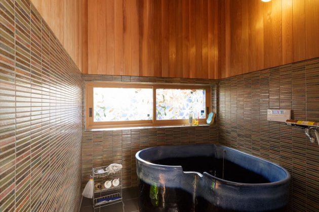 お風呂もオリジナルで作成したハート形になってます